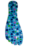 INSOLES (PER PAIR)- Blue Multi Dots- for WEDGES & FLATS